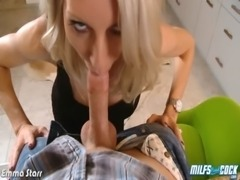 Busty milf Emma Starr suck and fuck cock in POV free
