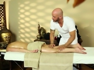 Chloe Chaos in just a towel at massage
