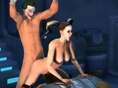 3D Harely Quinn getting fucked hard by The Joker