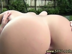 Teens poolside cum gargle