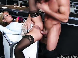 Capri Cavanni loves the way Johnny Castle s worm makes its way deep inside her wet pussy