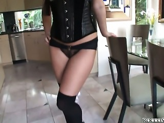 Aurora Snow gets her mouth drilled so hard by Rocco Siffredi that she wont beg for more