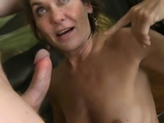 Throat fucked gagging old whore used