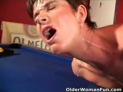 Highly sexed mom gets cumshot on her face free
