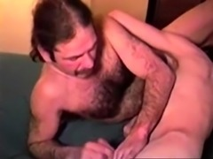 Southern redneck jerking his cock