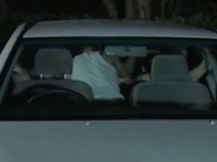 Mature asian couple fucking in the car