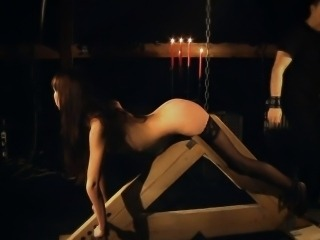 Elegant humiliation of slave girl in bdsm game