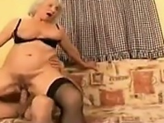 Busty Granny Getting Fucked