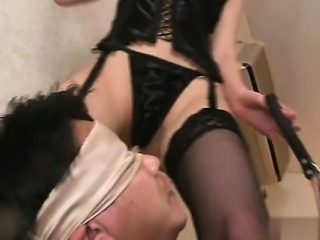 Busty girlfriend bondage anal