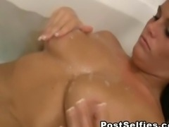 My Busty Girlfriend Caught Naked Inside Her Bathroom