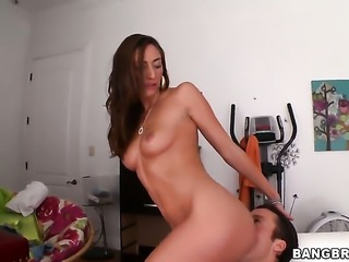 Angelica Saige gets sperm covered in steamy cumshot action