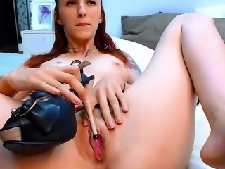 Redhead Teen Toying her Tight Cunt