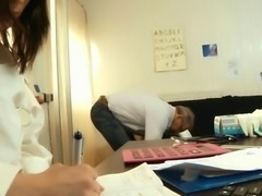 Young lady doctor fuck for old man cock