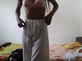 Indian Girl Teasing Her Body