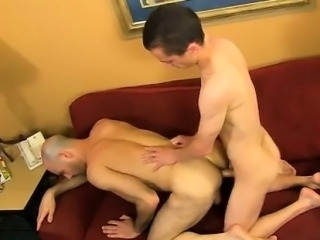 Gay porn He gets Phillip to gargle his boner before wrapping