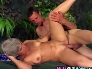 Outdoor granny fucked
