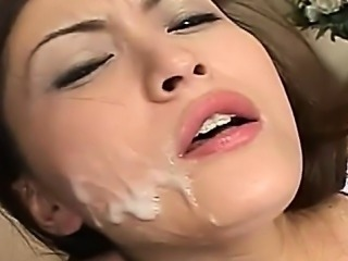 Sexy young cheerleader sucking cocks