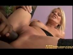 milf blonde sucks and fucks a big black dick for interracial fun free