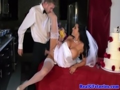 Busty horny milf bride really wants cock free