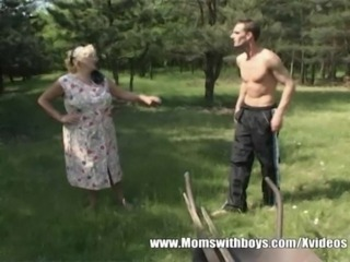 Mature Lady Lures Young boy Into The Woods free
