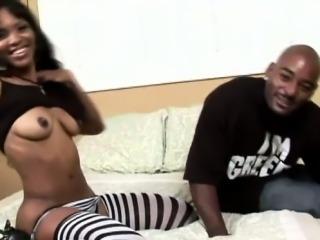 Hot Ebony Ass Blows Dong