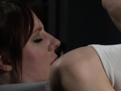 Tied up babe gets pussy fingered and vibed