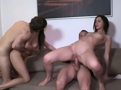 Sexy Girls Carly And Adel In A Hot Foursome