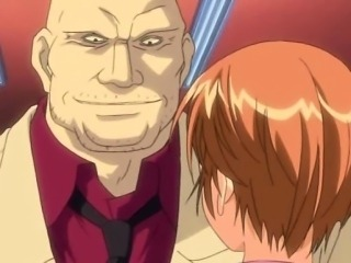 Anime teacher rubbing a dick