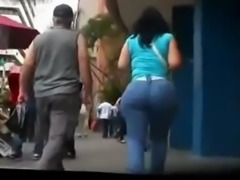 Phat Mexican Booty Walking in Public free
