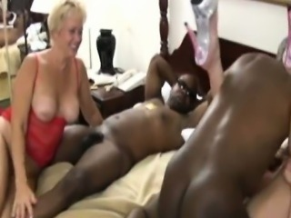Interracial aged swingers
