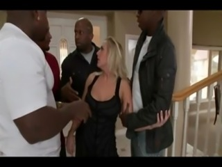 Angel Allwood - Wife takes 4 big black cocks while husband is on a trip free