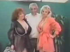 Vintage FFM Threesome With Mature Women