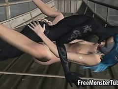 Sexy 3D cartoon elf babe getting fucked by a monster