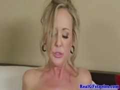 Blonde busty housewife milf drilled free