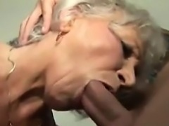 Grandma Getting Fucked On The Black Couch