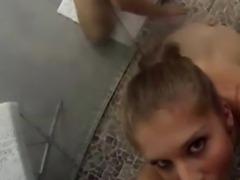 Teen lesbian threesome filmed licking pussy in POV sex tape