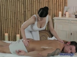 Massage Rooms Big boobs masseuse enjoys 69