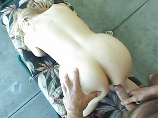 Hot mum fucked by the pool