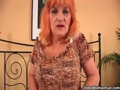 Granny with big tits sucks cock and gets fucked hard free
