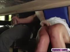 Stepmom joins sex session as her stepson bangs her horny bestfriend free