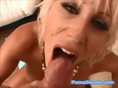 Big Titted Puma Swede Swallows A Load Poolside! free