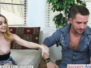 Cute blonde Alexia Gold gets pussy licked and fucked