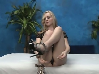 Sexy masseuse with miniature tits