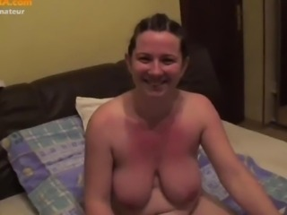 Amateur brunette wife gets spectacularly fucked