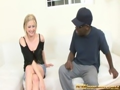 blonde milf and big black cock in her mouth and pussy free
