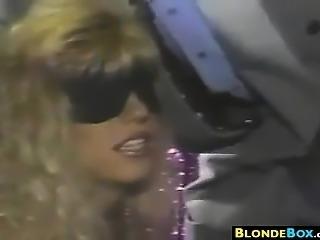 Blonde Slut Fucked By Black Cock
