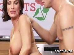 MOM Big breasted wife loves cock free