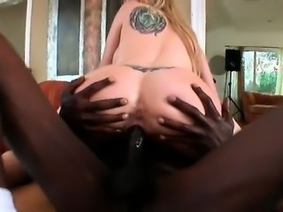Nasty blonde babe with huge tits loves