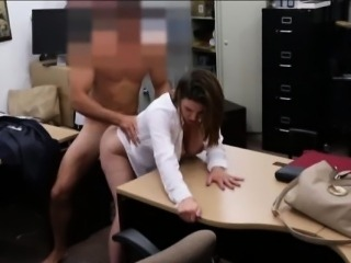 Huge boobs business woman pussy fucked while being filmed