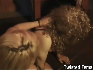Feminized and tormented by two merciless dommes